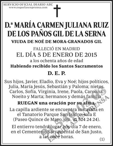María Carmen Juliana Ruiz de los Paños Gil de la Serna